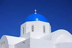 Kirche auf Santorini Insel stockbild
