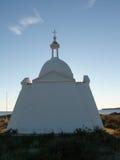 Kirche auf Strand Stockbild