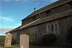 Kirche bei Hawkshead Stockfotos