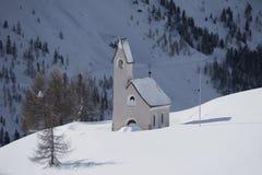 Kirche bei Passo Gardena Lizenzfreies Stockbild