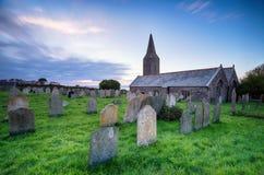 Kirche bei Rame in Cornwall Stockbild