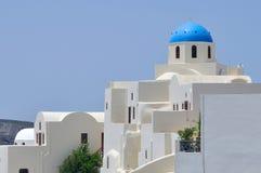 Kirche bei Santorini Stockbild