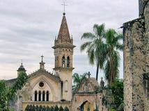 Kirche beiseite Cuernavacas Katze Stockbilder