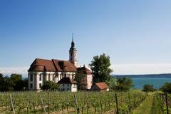 Kirche birnau am See constance lizenzfreie stockfotos