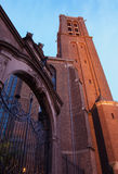 Kirche bis zum Nacht Lizenzfreies Stockbild