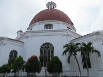 Kirche Blenduk in Semarang Stockbild