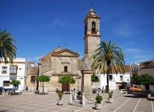Kirche, Bornos, Andalusien, Spanien. Stockfoto