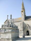 Kirche in Bretagne Stockfotografie