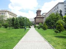 Kirche in Bucharest Stockfotos