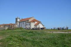 Kirche Cabo Espichel, Portugal lizenzfreies stockbild