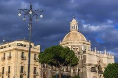Kirche in Catania Stockbild