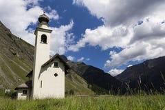 Kirche Chiesa-enges Tal Immacolata di Viera in Livigno, Italien Stockfotografie