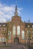 Kirche de Evangelische no mercado central em Goch Fotos de Stock Royalty Free