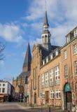 Kirche de Evangelische no mercado central em Goch Imagem de Stock Royalty Free