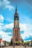 Kirche in Delft stockfotos