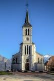 Kirche in den französischen Alpen, Sevrier Stockbild