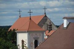 Kirche in der alten Stadt Stockbild