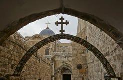 Kirche der alten Stadt des heiligen Grabes Stockfotos