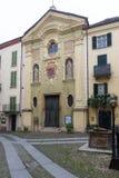 Kirche in der alten Stadt von Acqui Terme Lizenzfreies Stockbild