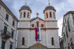 Kirche in der alten Stadt von Kotor stockbild
