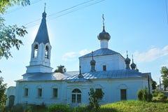 Kirche der Ankündigung der gesegneten Jungfrau auf Kathedralenquadrat in Kasimov-Stadt, Russland Lizenzfreies Stockbild