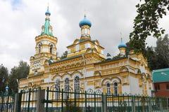 Kirche der Annahme der gesegneten Jungfrau, Russland, Dauerwelle lizenzfreie stockfotografie