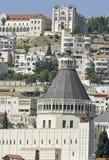 Kirche der Anzeigesansicht in Nazareth lizenzfreie stockfotos