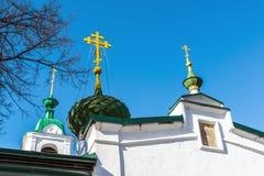 Kirche der Besteigung wurde im 18. Jahrhundert in Yaroslavl, Russland errichtet Lizenzfreies Stockfoto
