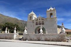 Kirche in der Colca-Schlucht Stockbild