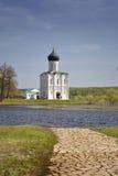 Kirche der Fürbitte auf dem Nerl Stockbilder