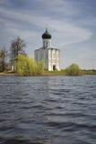 Kirche der Fürbitte auf dem Nerl Lizenzfreies Stockfoto