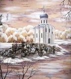 Kirche der Fürbitte der heiligen Jungfrau Stockfotos