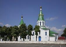 Kirche der Fürbitte der heiligen Jungfrau in Maladzyechna belarus Stockbilder