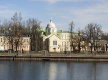 Kirche der Geburt Christi der gesegneten Jungfrau pushkin (Tsarskoye Selo) Russland Lizenzfreies Stockbild
