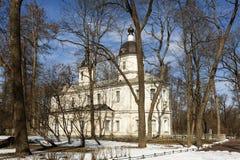 Kirche der Geburt Christi der gesegneten Jungfrau pushkin (Tsarskoye Selo) Russland Stockbilder