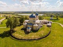 Kirche der Geburt Christi von Christus im Jahre 1815 aufgebaut Knjazhaja Baygora, Russland stockbilder