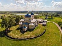 Kirche der Geburt Christi von Christus im Jahre 1815 aufgebaut Knjazhaja Baygora, Russland lizenzfreie stockbilder