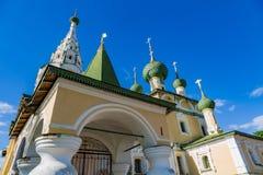 Kirche der Geburt Christi von Johannes der Täufer des 17. Jahrhunderts, Uglich, Russland Lizenzfreies Stockfoto