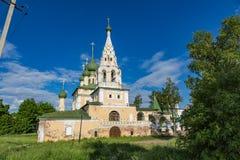 Kirche der Geburt Christi von Johannes der Täufer des 17. Jahrhunderts, Uglich, Russland Stockbilder