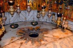 Kirche der Geburt Christis-Grotte Stockbilder