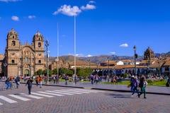 Kirche der Gesellschaft von Jesus in Cusco Lizenzfreies Stockbild