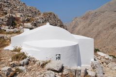 Kirche der Heiligen Dreifaltigkeit, Halki Stockfotografie