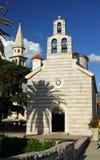 Kirche der heiligen Dreiheit in Budva, Montenegro Lizenzfreie Stockbilder