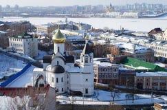Kirche der Ikone unserer Dame von Kasan Nischni Nowgorod lizenzfreies stockfoto