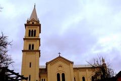 Kirche in der mittelalterlichen Stadt Sighisoara Stockfoto