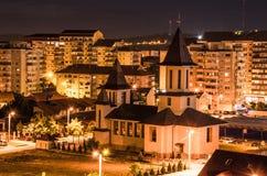 Kirche in der Nacht Stockfoto