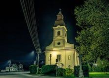 Kirche in der Nacht Lizenzfreie Stockfotografie