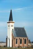 Kirche in der niederländischen Insel Texel stockfoto