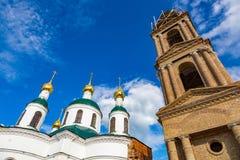 Kirche der Theodorovskaya-Ikone der Mutter des Gottes vom 19. Jahrhundert in Uglich, Russland Stockfotografie