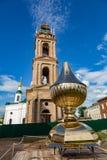 Kirche der Theodorovskaya-Ikone der Mutter des Gottes vom 19. Jahrhundert in Uglich, Russland Lizenzfreie Stockfotografie
